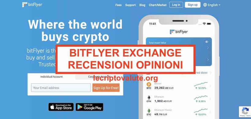 bitFlyer exchange criptovalute recensioni opinioni
