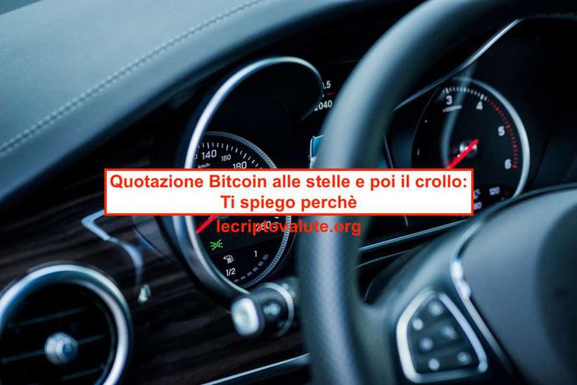 quotazione bitcoin crollo le previsioni