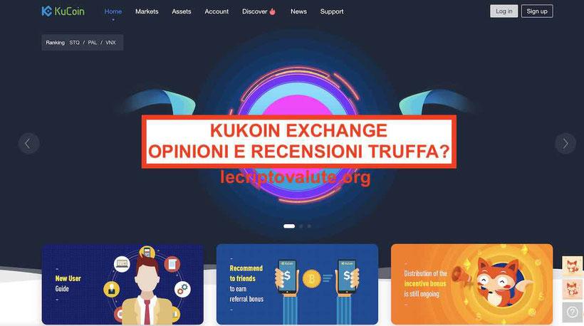 Kucoin exchange criptovalute recensioni opinioni truffa o no Guida