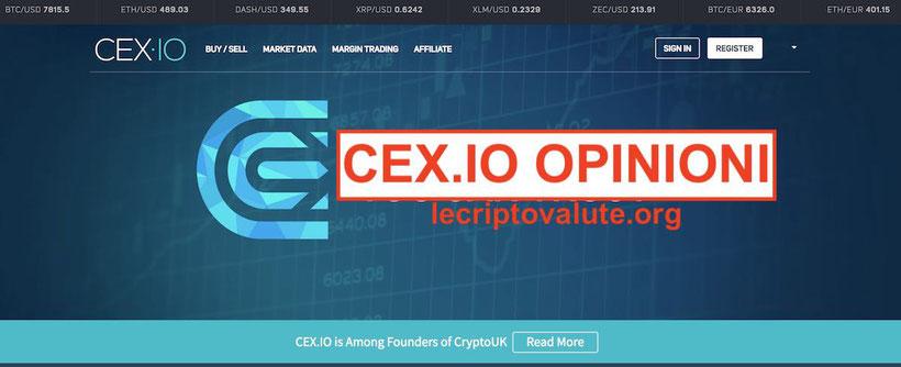 cex.io opinioni recensioni piattaforma criptovalute sicuro