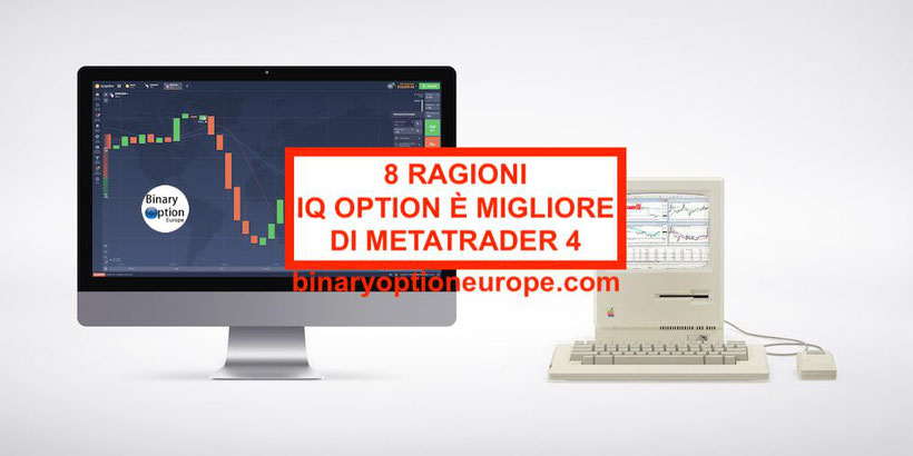 8 ragioni per cui IQ Option piattaforma batte MetaTrader MT4