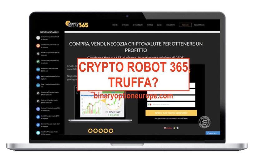 crypto robot 365 recensioni opinioni truffa italiano consob
