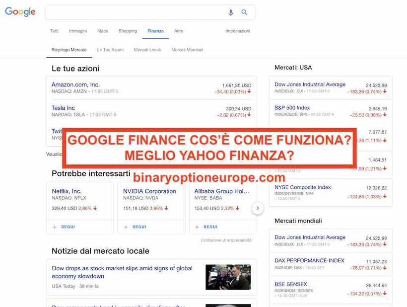 google finance cos'è come funziona meglio yahoo finanza guida 2019