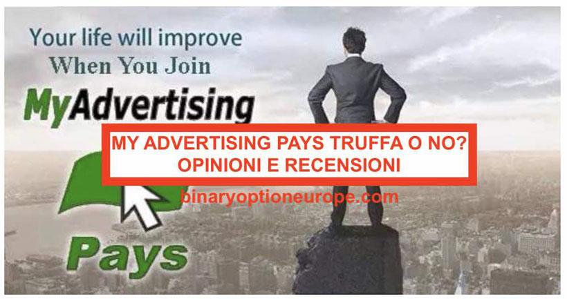 My Advertising Pays truffa bloccato Opinioni recensioni aggiornamenti
