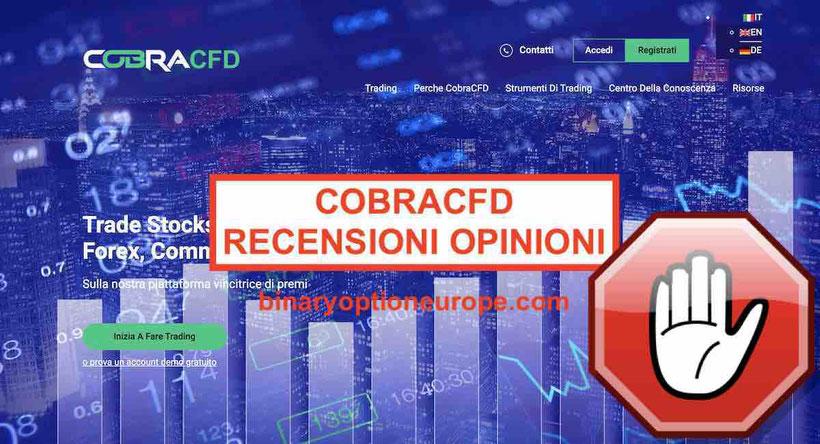 Cobra CFD recensioni opinioni - Cobracfd.com truffa? [2019]