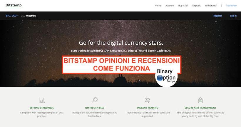 bitstamp italia opinioni recensioni come funziona