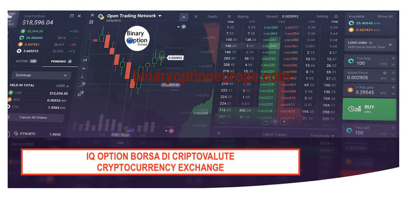 iq option borsa exchange criptovalute come funziona opinioni italiano