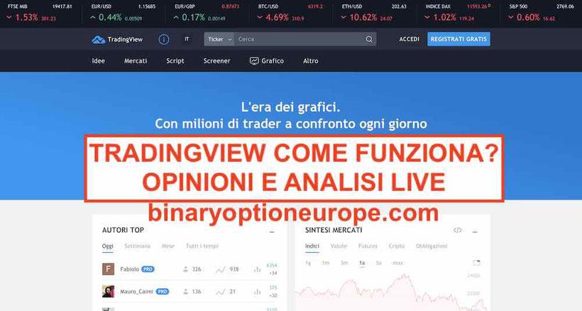 Tradingview italiano cos'è come funziona guida Metatrader Opinioni