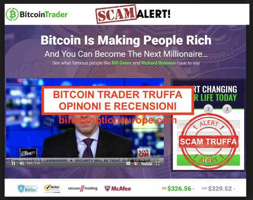 Bitcoin Trader truffa come funziona? Recensioni e opinioni