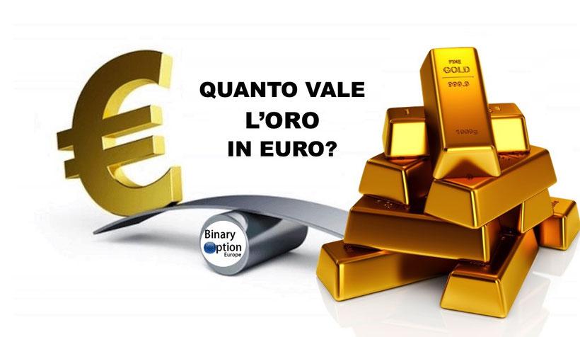 quanto vale l'oro in euro al grammo quotazione