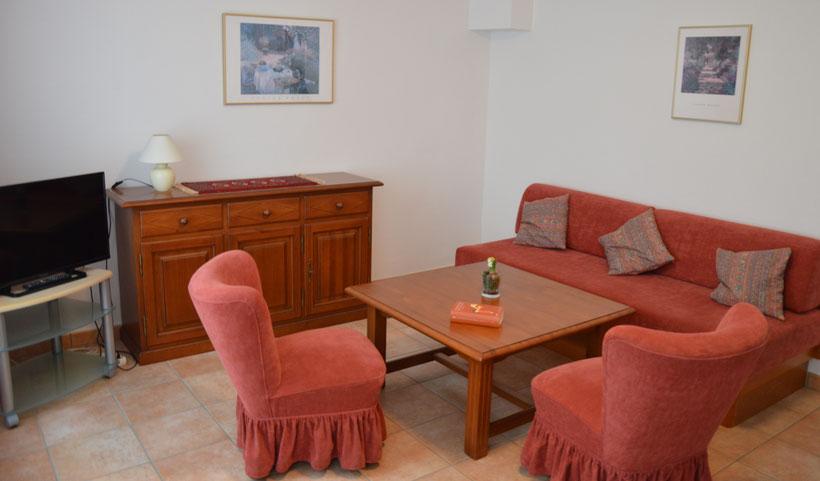 Villa von Rumohr Ferienwohnung 1 Wohnzimmer