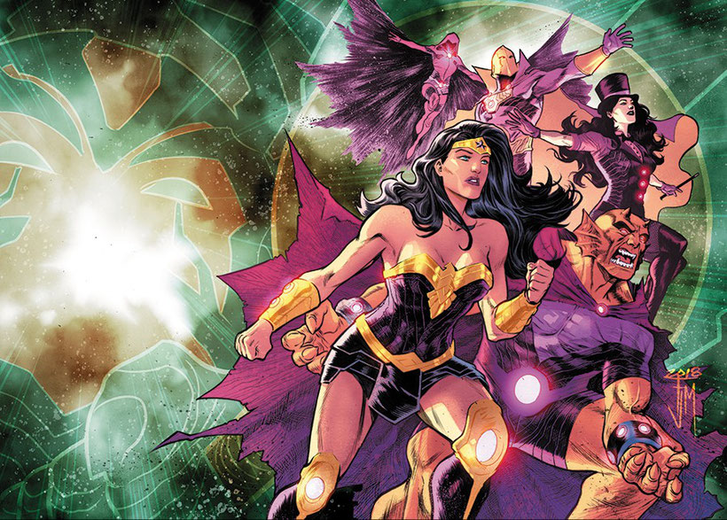 Wonder Woman, Raven, Doktor Fate, Zatanna und Etrigan als Team Wonder.