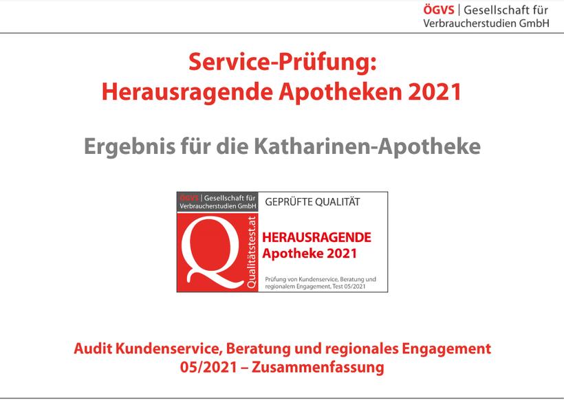 """Auszeichnung """"Herausragende Apotheke Österreichs"""" bereits zum zweiten Mal in Folge errungen von ÖGVS. Sensationell!"""