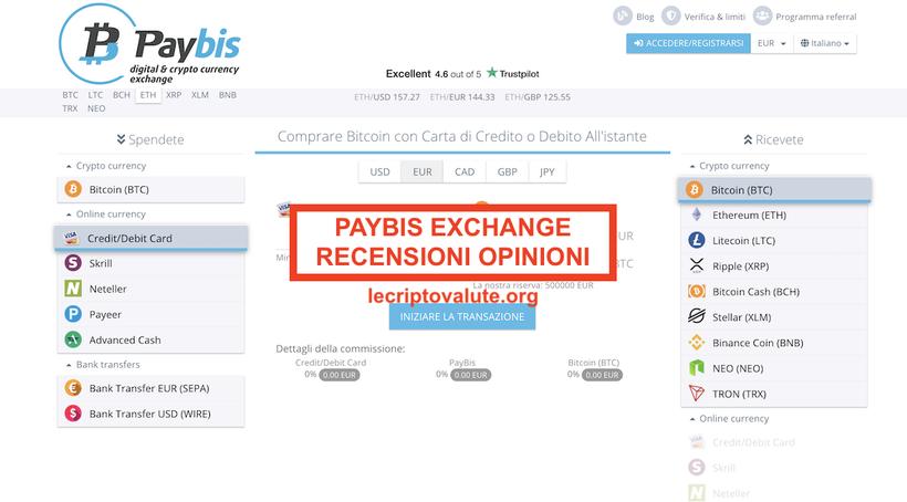 Paybis exchangerecensioni opinionipaybis.com truffa?
