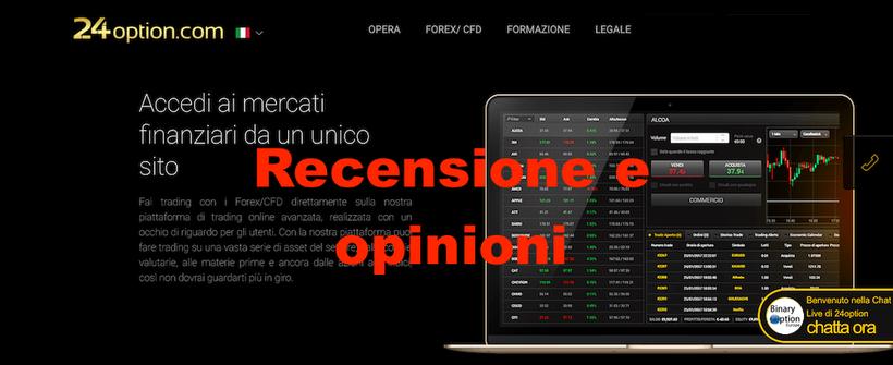 24option recensioni opinioni Italia 2019