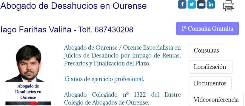 Abogado de Desahucios en Ourense / Orense