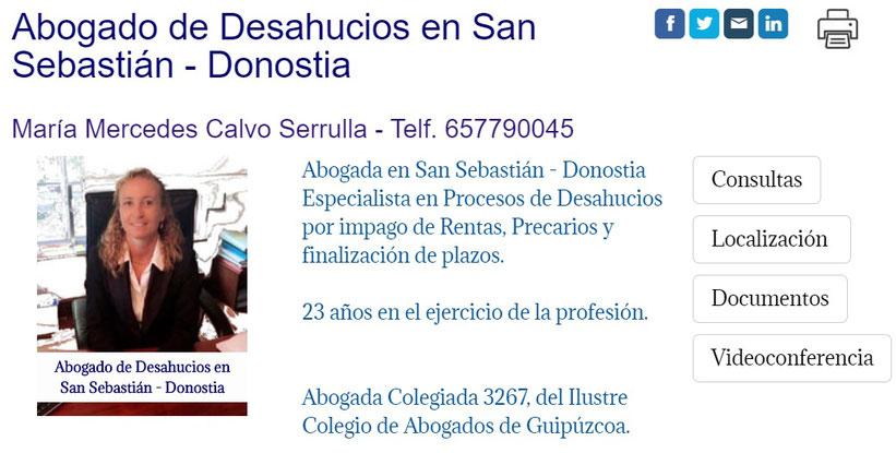 Abogada de Desahucios en San Sebastián - Guipúzcoa