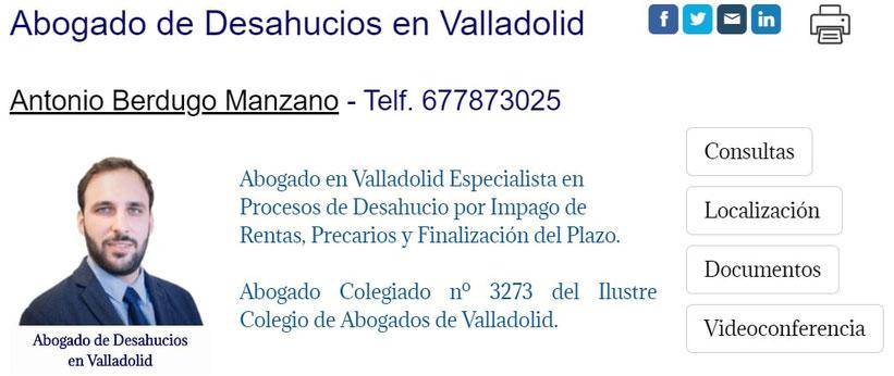 Abogado de Desahucios en Valladolid
