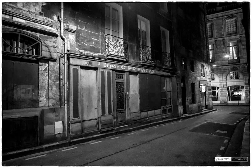 streetphoto bordeaux noir et blanc