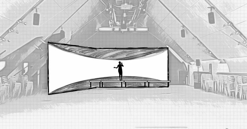Bühnenentwurf Kunstpreis Dachfoyer Hofburg v4, © Christian Gallei, 2016-11-02