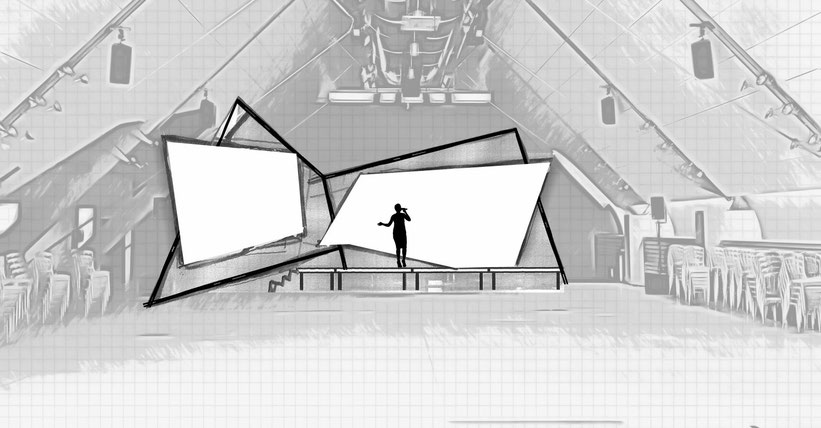 Bühnenentwurf Kunstpreis Dachfoyer Hofburg v2, © Christian Gallei, 2016-11-02