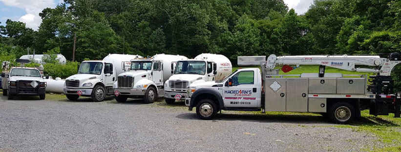 Hagedorn's propane delivery trucks in Morgantown, WV