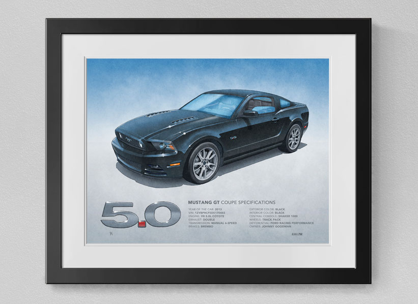 Dessin de la Mustang GT 2013, Dessin de la Mustang GT 2014
