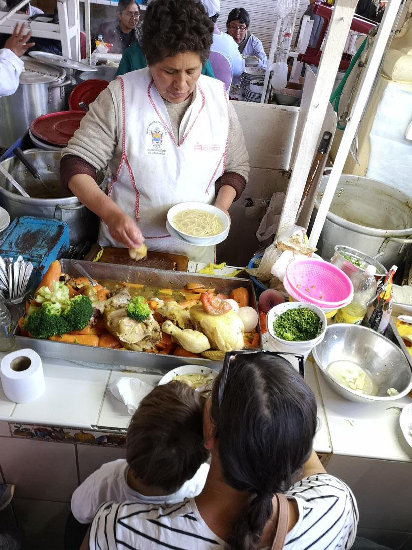 Cusco Essen Markt