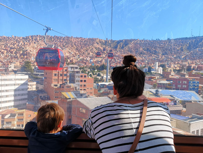 Seilbahn La Paz Bolivien