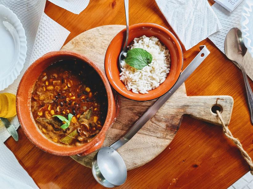 Essen Azoren Sao Miguel Kleinkind Kind Familie