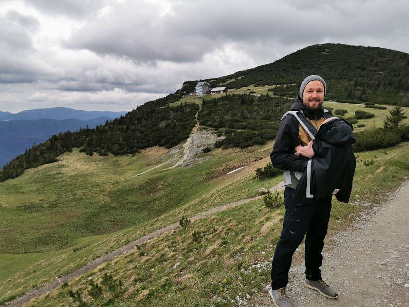 Ottohaus auf der Rax - Wanderung mit MC in der Ergobaby Trage
