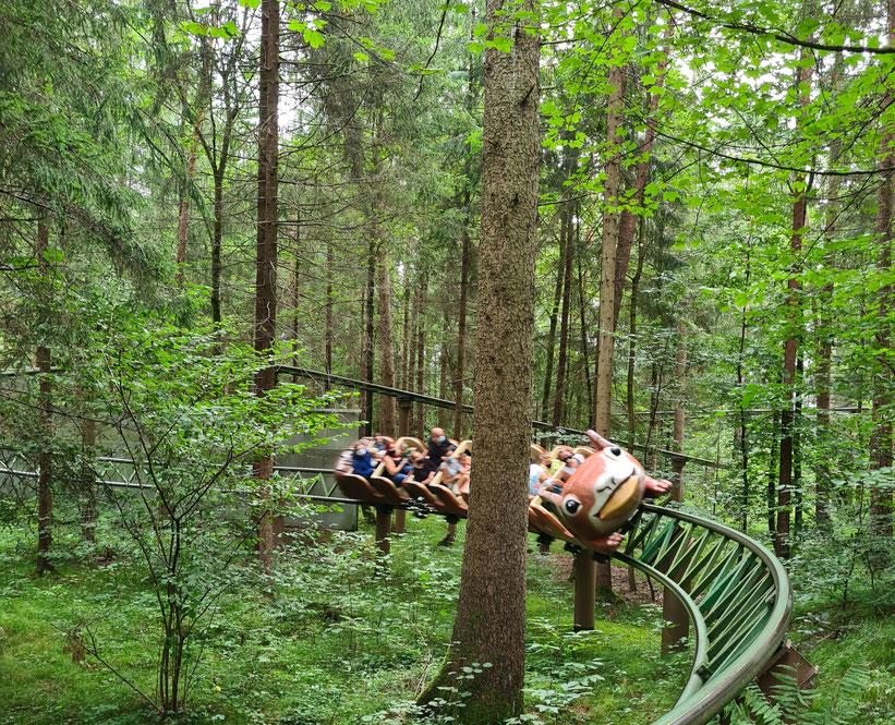 Eichkatzerl Achterbahn mitten im Märchenwald