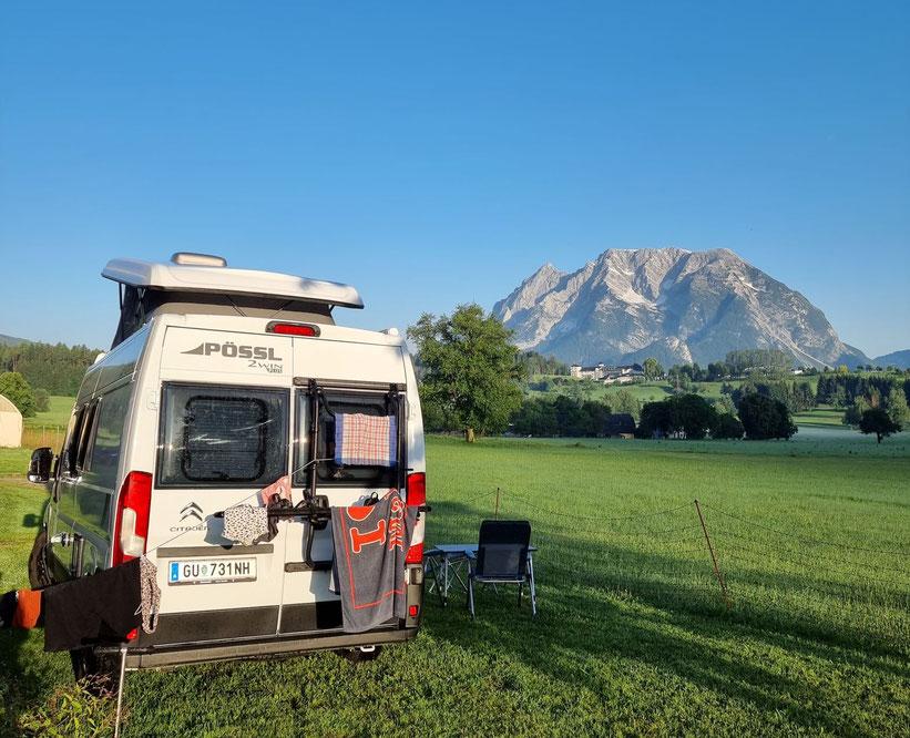 Grimming Biohof Pointner Steiermark Schau aufs Land