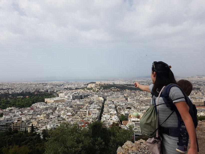 Wunderbare Aussicht auf Athen