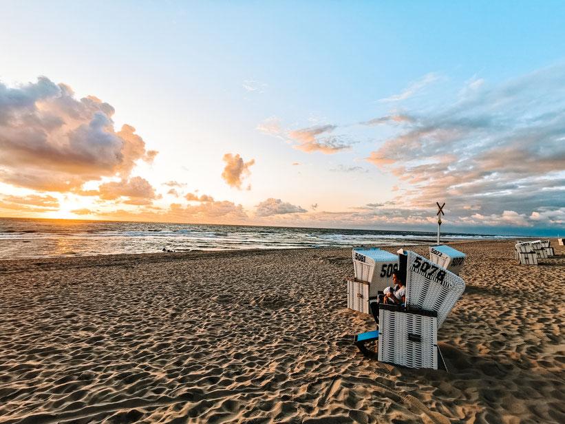 Urlaub Sylt Kind Baby Strandkorb