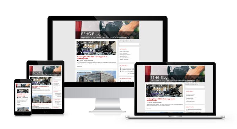 Webseitengestaltung für den BEHG-Blog - Dem Informationsportal zum Brennstoffemissionshandel (Erstellt mit Wordpress)