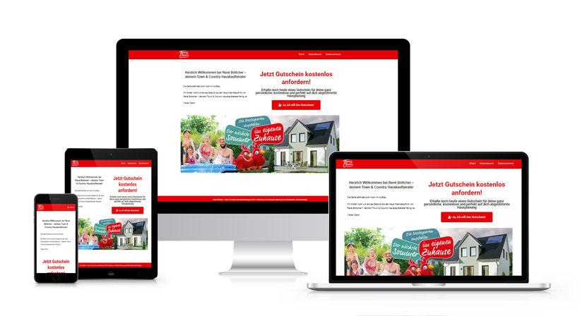 Responsiver Internetauftritt der TC Hauskaufberatung René Böttcher