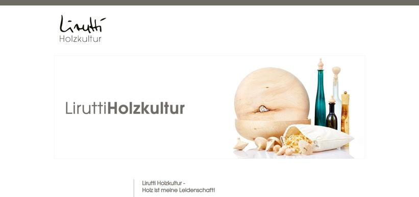 Lirutti Holzkultur stellt aussergewöhnliche Produkte aus duftendem Zirbenholz wie den ZirbelWirbel, Gewürzmühlen, Flaschenstöpsel... her.