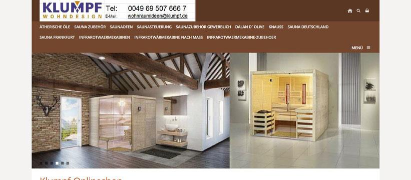Klumpf Sauna Zubehör Zirbenholz