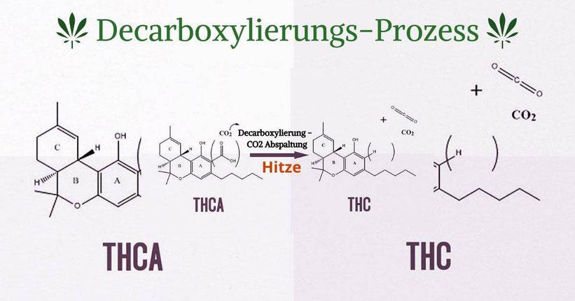 Decarboxylierungs-Prozess bei Cannabis