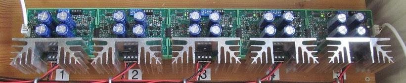 Anordnung  5xB5-G bei einem Kunden.