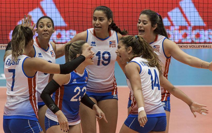 Las Nenas de Puerto Rico llegan a Lima con una buena preparación luego del preolímpico / foto por Fivb.org