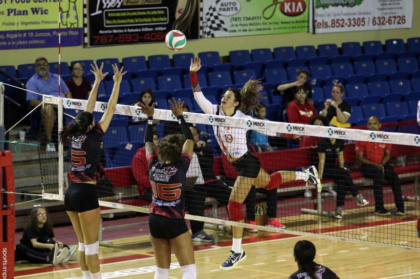 Paulina Prieto Cerame #19 fue la bujía ofensiva con 29 puntos en el triunfo de Juncos sobre Trujillo Alto / Foto por Heriberto Rosario Rosa