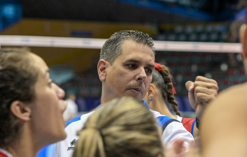 Puerto Rico está dirigido por el técnico nacional José Mieles / Foto por FIVB