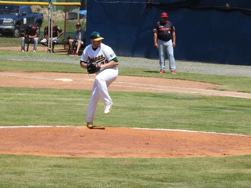 Jorge Charry ganó el primer juego en relevo por los Arenosos / Foto por FBAPR