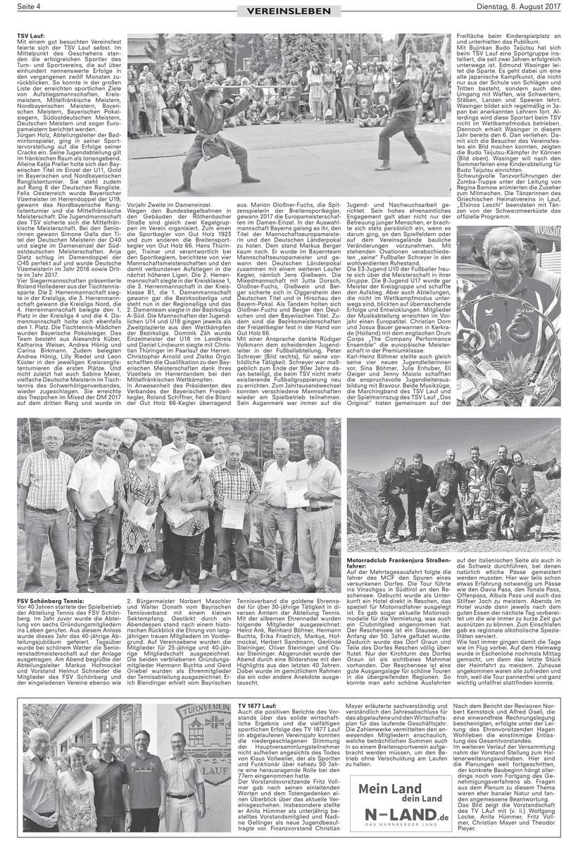 TSV Lauf Vereinsfest Kampfkunst Vorführung Embu Wakagi Lauf