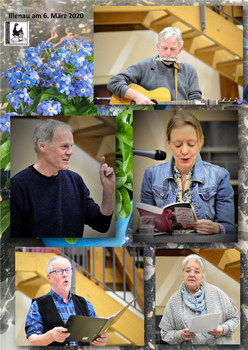 Es lasen und musizierten Marion Stieglitz, Serge Rieger, Martin Schütt, Klaus-Ulrich Moeller und Karin Jäckel  Fotos: KP Jäckel