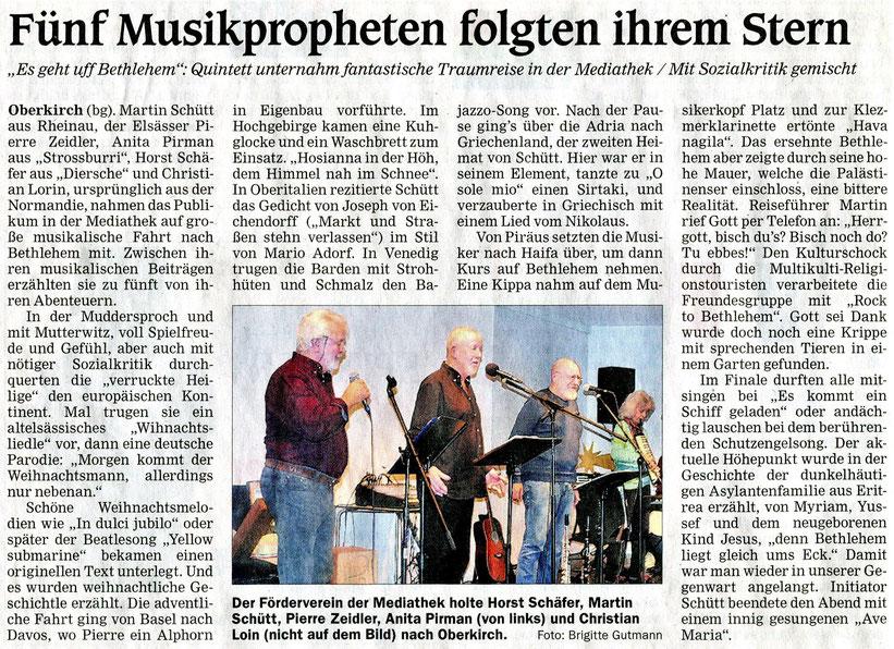 Mittelbadische Presse, ARZ, Montag, 23. Dezember 2019