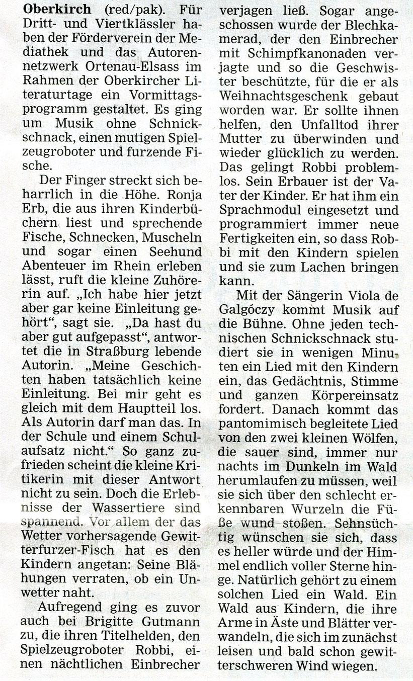 Mittelbadische Presse, Reif Medien, ARZ Oberkirch, am 19. 10. 2021