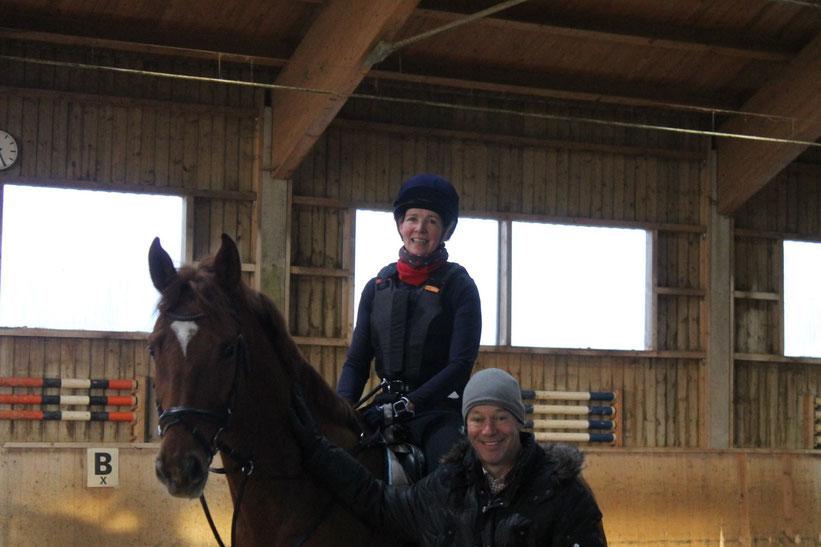 Antje Hochkirch und Pferd Maddox mit Weltmeister und Doppelolympiasieger Hinrich Romeike